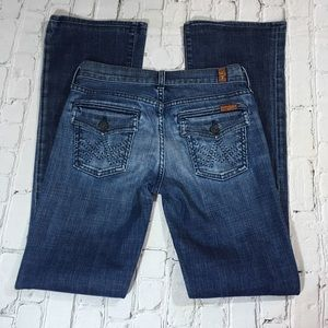 7 for all mankind size 25 bootcut jeans